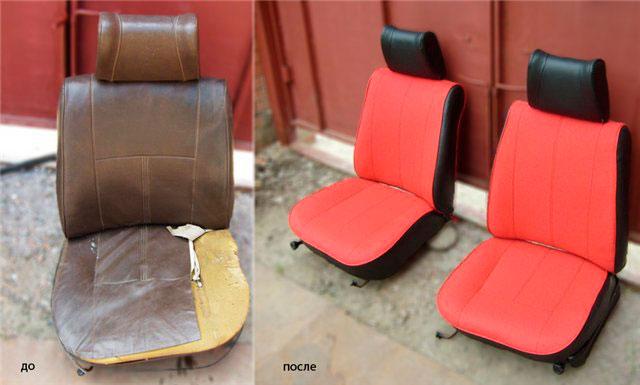 Ремонт обивки сидений